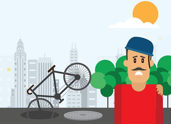 Accidente de Bicicleta por causa del gobierno