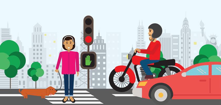 Accidentes de Peatones: Atender a las señales de tráfico